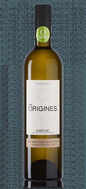 Aux Origines AOP Gaillac Blanc sec Sans sulfites ajoutés