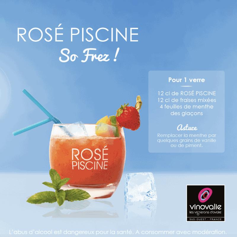 cocktail rose piscine fraise