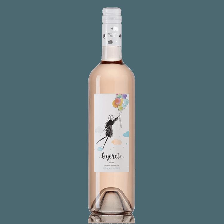 Légèreté vin rosé léger