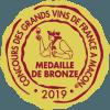 Concours des grands vins de France Macon 2019 Médailles de Bronze