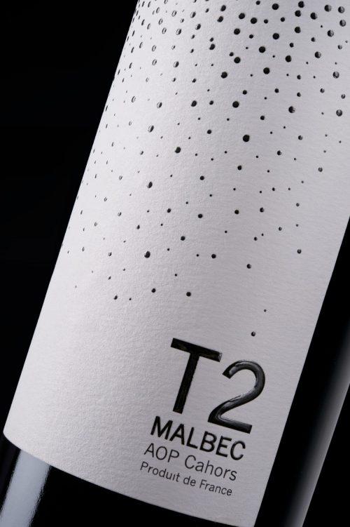 Etiquette T2 9 terroirs Cahors Malbec