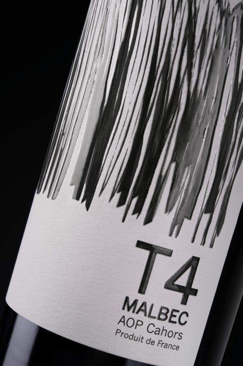 Etiquette T4 9 terroirs Cahors Malbec