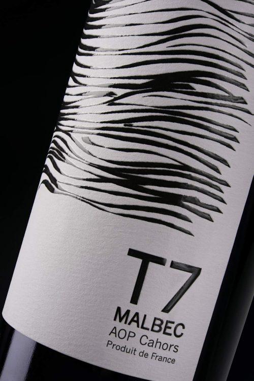 Etiquette T7 9 terroirs Cahors Malbec