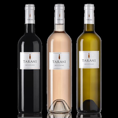 Gamme des vins Tarani