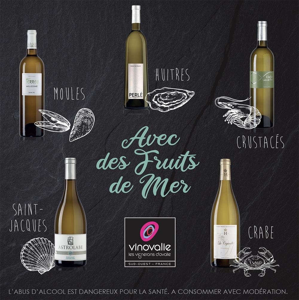 Quel vin blanc avec des fruits de mer?