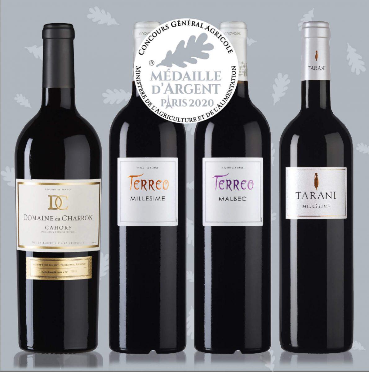 vins rouges médailles d'argent au concours général agricole 2020