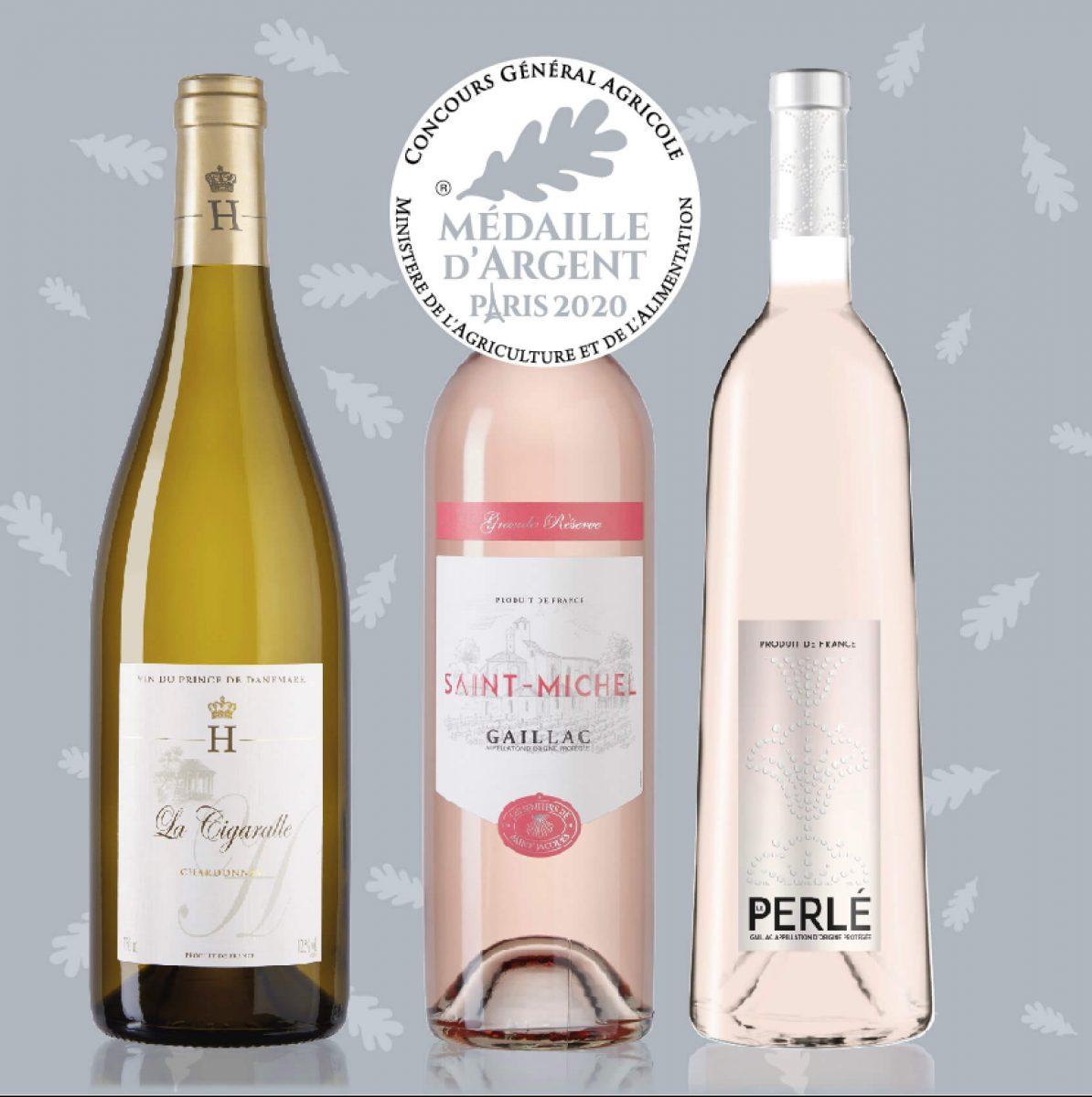 vins rosés médailles d'argent au concours général agricole 2020