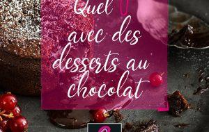 quel vin avec un dessert au chocolat