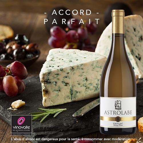 roquefort et vin blanc doux